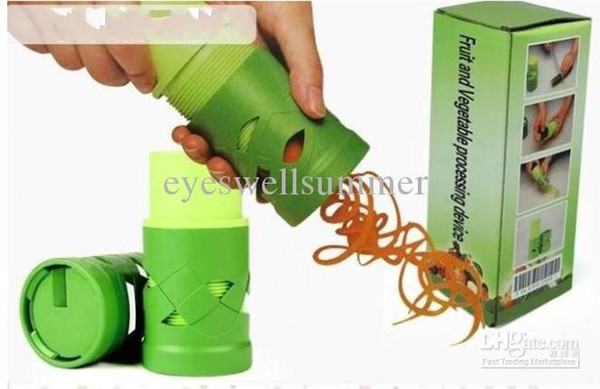 top popular Vegetable Fruit Processing Twister Cutter Slicer Device Kitchen Utensil Tool free shipping 2020