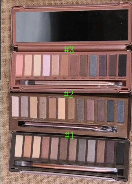 Nueva venta caliente de buena calidad al mejor precio para el último producto envío gratis 12 cosméticos de color # 1 # 2 # 3 paleta de sombras de ojos 5 PCS
