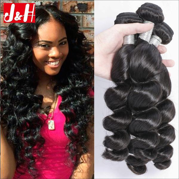 34 Bundles Brazilian Loose Wave Cheap Human Hair Weaving Uk
