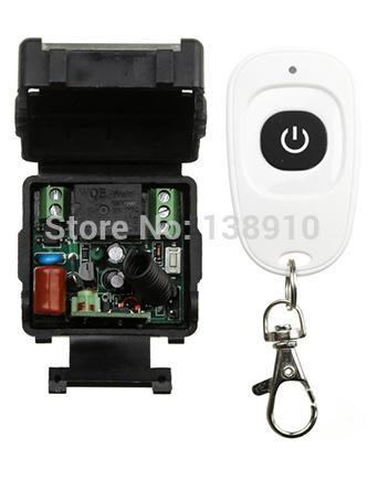 Atacado-AC220V RF Sem Fio Mini Switch teleswitch Relé Receptor Controladores Remotos Para Interruptor de luz Com Transmissor À Prova D 'Água Branco