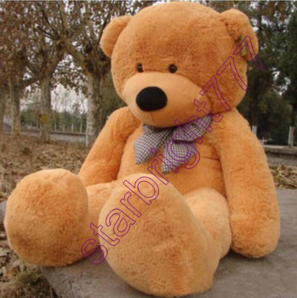 2018 New Arriving Giant Right-angle measurements 200CM/78''inch TEDDY BEAR PLUSH HUGE SOFT TOY Plush Toys Valentine's Day gift 5 color brown