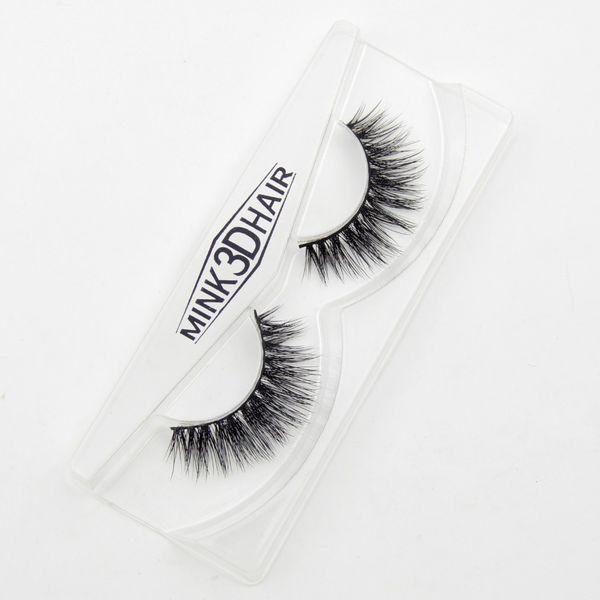 New 1 Pair 100% Handmade Mink Long False Eyelash 3D Strip Mink Lashes Thick Fake Faux Eyelashes Makeup Beauty Tool
