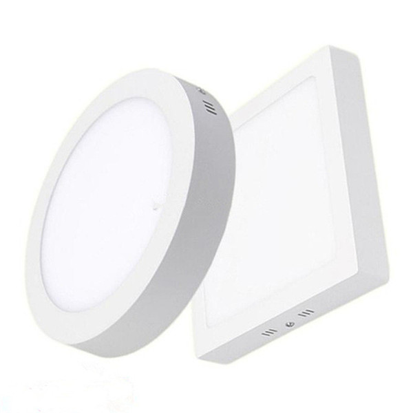 5-7-9-12 Inch 9W 15W 21W 30W Round / Square LED Panel Light Dimmable Surface Mounted LED Ceiling Downlight AC 85-265V