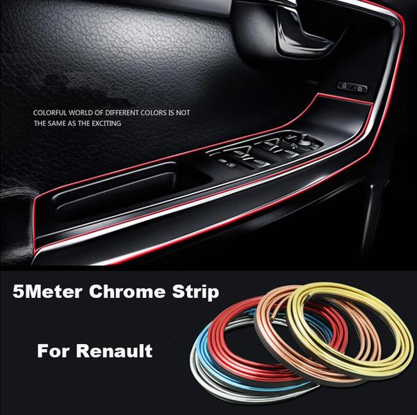 5 Meter Auto dash panel trim strip Car Rein Side moulding decoration Strip decorative tape for Megane/Clio/Laguna/Twingo/Espace