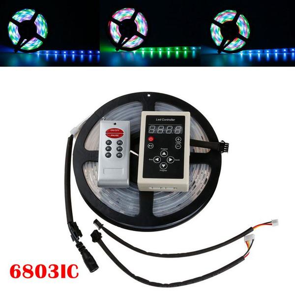 5M 6803 IC SMD 5050 Digital 12V RGB LED Tira 150 LED Tubo de silicona Impermeable Dream Magic Color LED Strip Light + Controlador RF6803