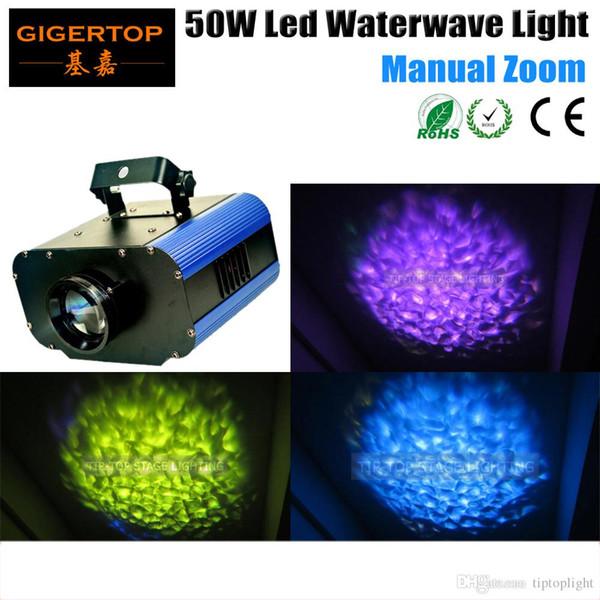 TIPTOP 50W Iluminación de escenario Luz de escenario con efecto de onda de agua LED para fiesta Año Nuevo Navidad 1 * 50 vatios Alto brillo Led 90V-240V TP-E07