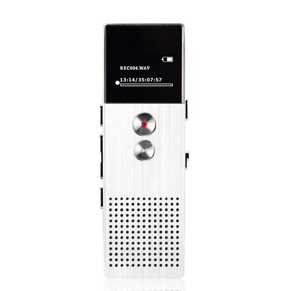 Wholesale-Professional Audio Recorder 8GB Metal Voice Tracker Portable Business Digital Voice Recorder Telephone Recording MP3 Player