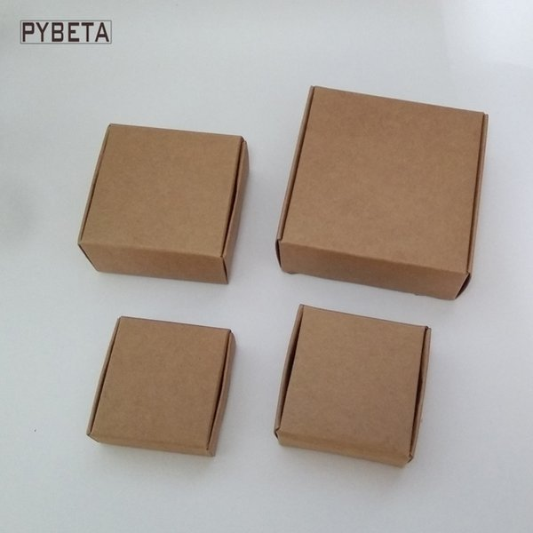 50pcs/lot- ( 70-95mm ) Big size kraft paper aircraft box for handmade soap candy jewelry DIY gift packaging box