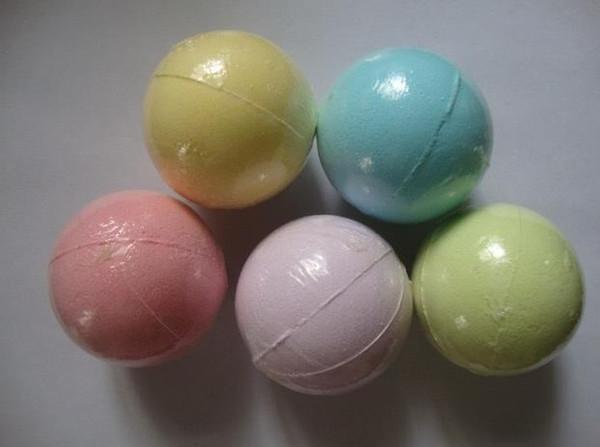 top popular 40g Random Color! Natural Bubble Bath Bomb Ball Essential Oil Handmade SPA Bath Salts Ball Fizzy Christmas Gift for Her B662 2021