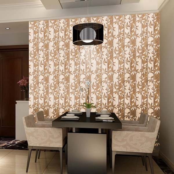 45x1000cm Wooden flower pattern Wallpapers for living room bedroom mural wall paper Roll home decor self adhesive