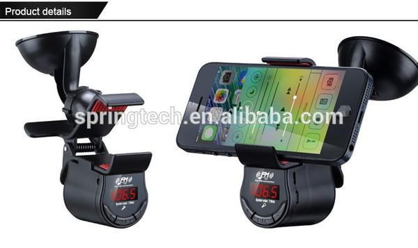 FM09 Mulit-function rechargeable bluetooth hands-free phone car holder
