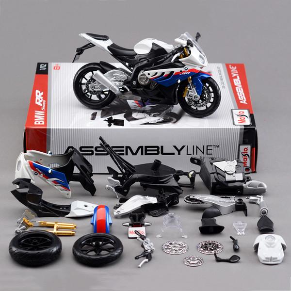 1:12 S1000 RR Motorcycle Model Building Kits motorcycle model building kits 1/12 assembly toy kids gift mini moto diy diecast