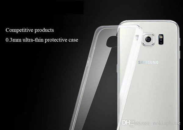 Cell Phone Cases For iPhone 5 5S Plus 6 and Samsung Galaxy S5 S6 E6 Ultra Thin Crystal Transparent Soft TPU Silicone Cover