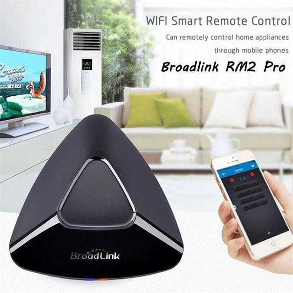 Al por mayor-Smart Home Broadlink RM2 RM Pro inteligente controlador remoto del interruptor IR / RF / Wifi, SP3 inalámbrico UE eléctrica del enchufe del zócalo WIF