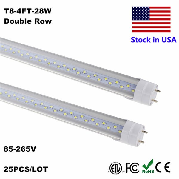 T8 LED Tube 4ft 4Feet Tube LED T8 18W 22W 28W 4 ft 1.2M Tubes Blanc froid Blanc 6500K t8 tube de plomb