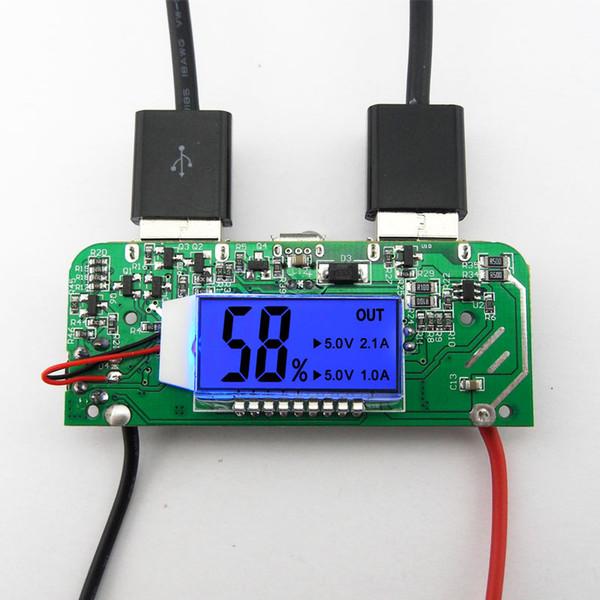 Livraison Gratuite 3.7V 18650 Batterie Au Lithium 5V 2A USB LED Lumière Écran Affichage Chargeur Trésor Carte de Circuit DIY Module de Charge Rapide de La Batterie