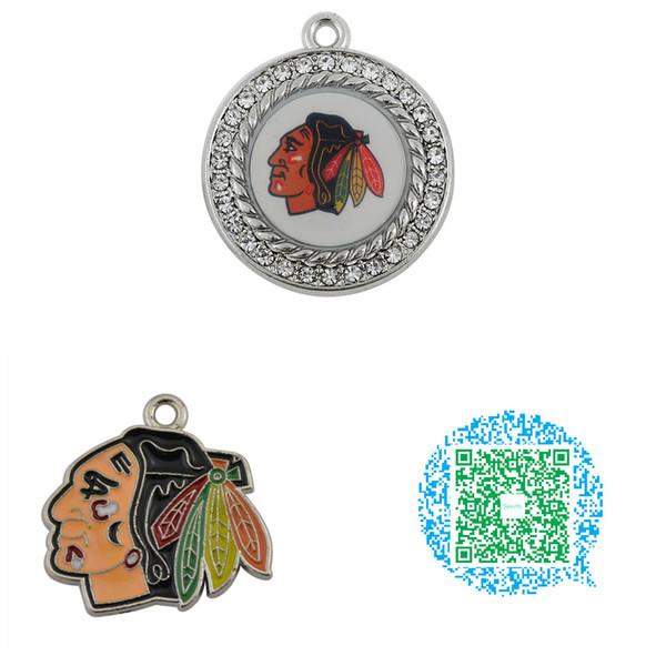 Großhandels-10pcs trendy Enamel Chicago Blackhawks Team-Logo-Hockey-Charme