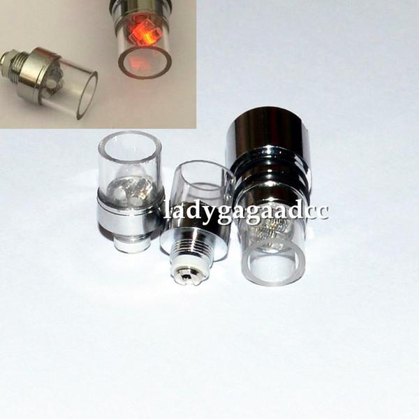 Nuovo arrivo doppia bobina di quarzo con tubo di quarzo per vetro globo atomizzatore cannoni di bowling atomizzatore vetro cera atomizzatore cera ecigs bobine