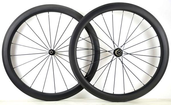 Spedizione gratuita 700C 50mm profondità bici da strada wheelset 25mm larghezza copertoncino ruote in carbonio con powerway R36 mozzo UD finitura opaca