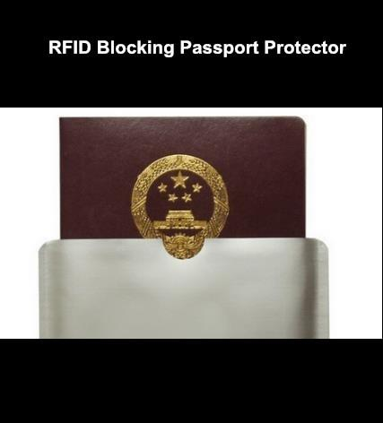 Free shipping 500pcs blank RFID blocking sleeve for passport Protector RFID passport Aluminum Sleeve
