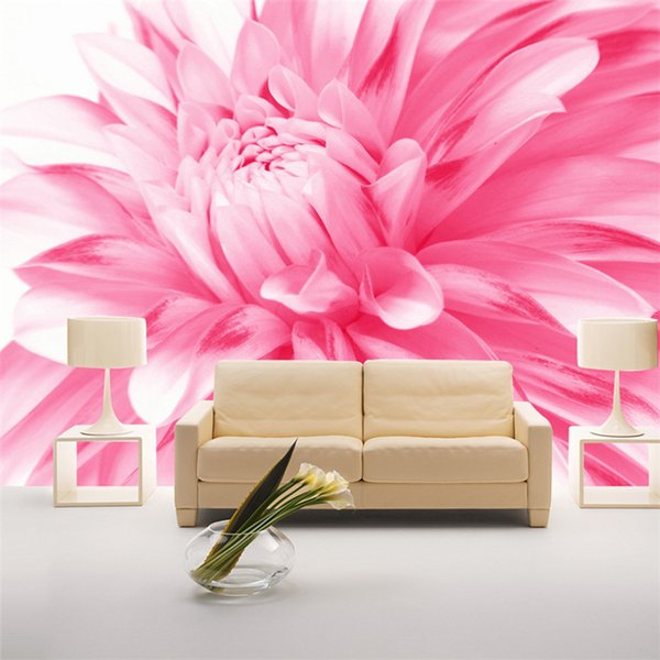 Pink flower mural 3d wall mural Wallpaper for bedroom living room 3d wall photo wall fresco 3d mural home decor