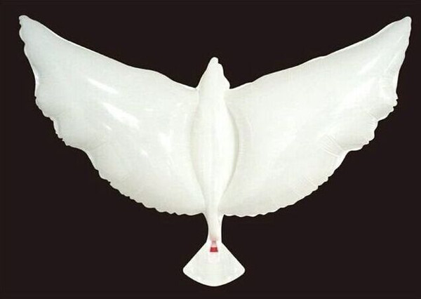 best selling 105*48 Flying White Dove Balloons Wedding Globos Balao Dove Balloons Peace Bird Ball Pigeons Peace Dove Foil Balloons