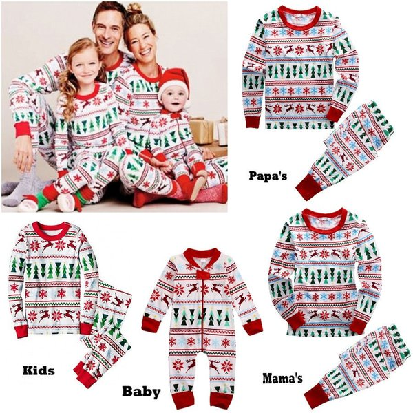 best selling Family Christmas Deer Pajamas Winter Outfits Jumpsuits Baby Clothing Papa Mama Kid Set Boy Girl Xmas Long Sleeve Adult two-piece Home Outfit