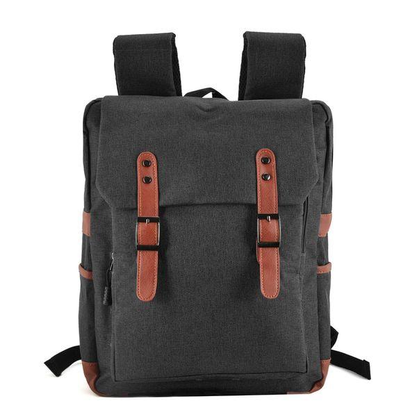 New Men Backpacks Canvas Nylon School Bag Computer Bag Multi-functional Shoulder Bag Casual Travel Outdoor Student High Capacity VK5045-1