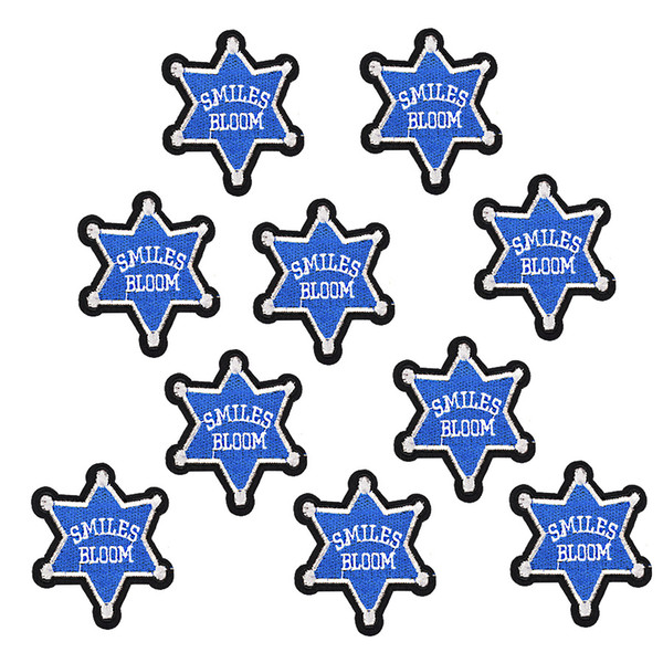 10PCS star badge patches for clothing iron-on patch applique iron on embroidery patches sewing supplies accessories stickers on clothes DIY