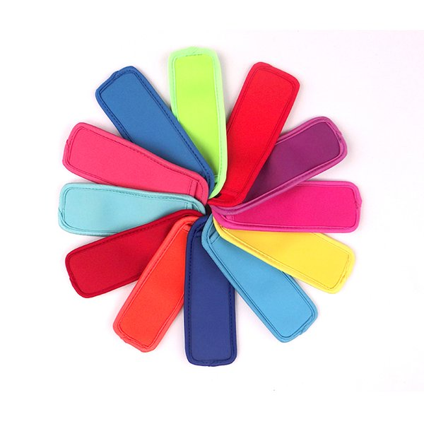 top popular low prices high quality Popsicle Holders Pop Ice Sleeves Freezer Pop Holders 8x16cm DHL Fedex UPS SF Fast Shipping A080 2019