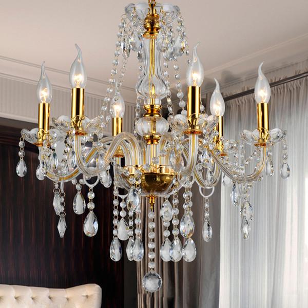 Moderner Kristallleuchter K9 Kristall 110 ~ 240V Lustres De Cristal Kronleuchter  Für Wohnzimmer Küchelicht Lampenglanz Para Sala
