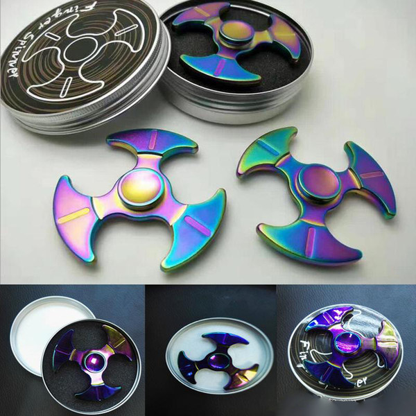 Triangle Axe Shape Hand Spinner Metal Finger Toy Good For Autism Fidget Spinners Toys Spinning Top With Retail Box