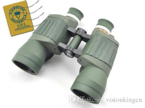 Visionking high quality Fixed Focus 10x50 Porro Binoculars with reticle and Light outdoor professional telescope for travelling camping