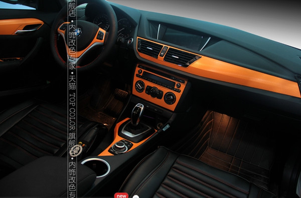 Car Styling Carbon Fiber Sticker For BMW X1 Color Change Set Stickers Interior  Decoration Protection Sticker