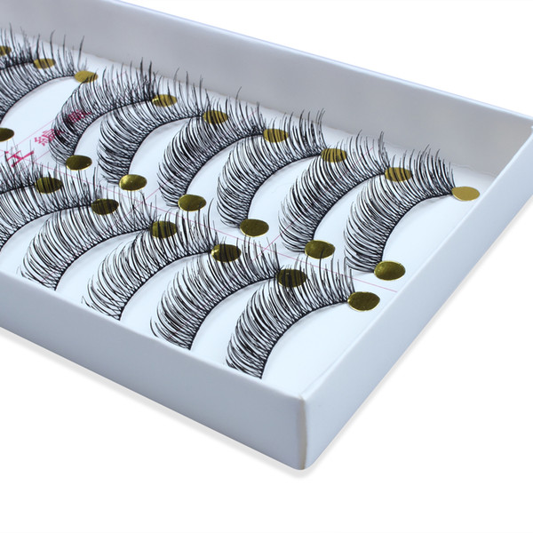 10Pairs Brand new Lady Makeup Natural Long Thick Black False Eyelashes Charming Eye Lashes For Party and Daily Use