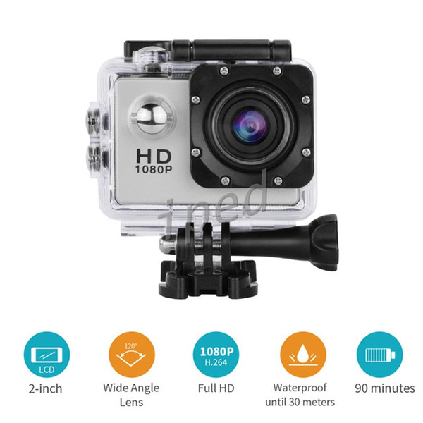 best selling SJ4000 style A9 2 Inch LCD Screen 1080P Helmet Sports DV Video Car Cam DV Action Waterproof Underwater 30M Sports Camera Camcorder cheap