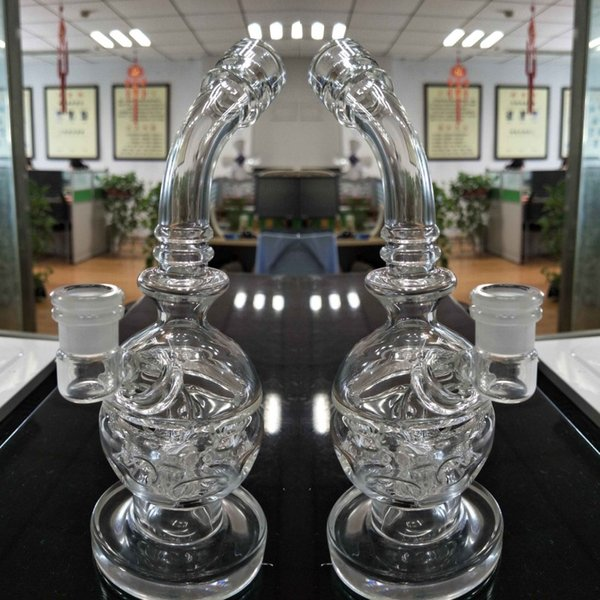 2016 New skull Glass bong fab egg Bongs original Faberge Egg Water pipe recycler bong oil rig dabs glass hookahs dab oil rigs