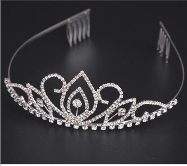 top popular Luxury Crystal Rhinestone Bridal Wedding Tiaras and Crowns Hair Accessories Ornaments silver plated high quality 2021