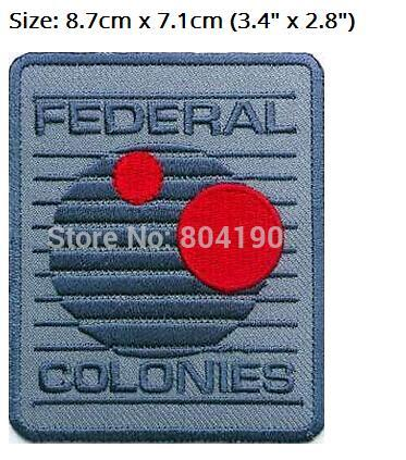 """3.4"""" TOTAL RECALL Patch Federal Colonies 50% OFF FOR 10 LOTS TV Movie Series applique iron on logo badge costume Uniform"""