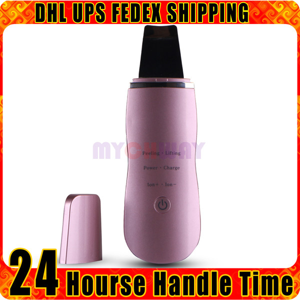 Rechargeable ION Ultrasonic Skin Scrubber Deep Cleansing Acne Treatment Wrinkles Spots Remover Beauty Machine for Home