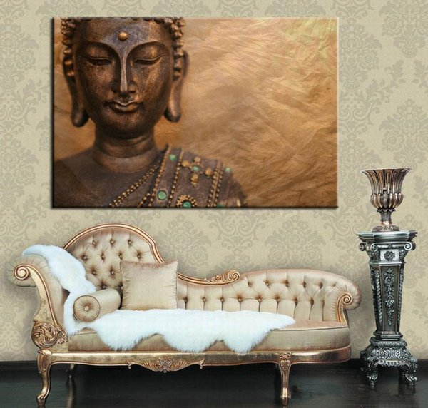 2018 No Frame Large Prints Painting Single Canvas Buddha Wall Art ...