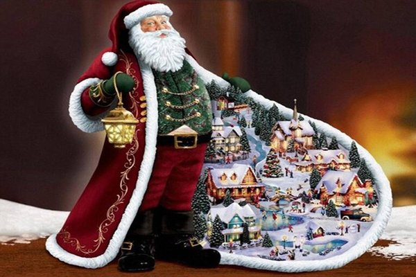 best selling Father Christmas 5D DIY Full Diamond Painting Cross Stitch Round Rhinestone Needlework Embroidery Room Fashion Decoration Gift