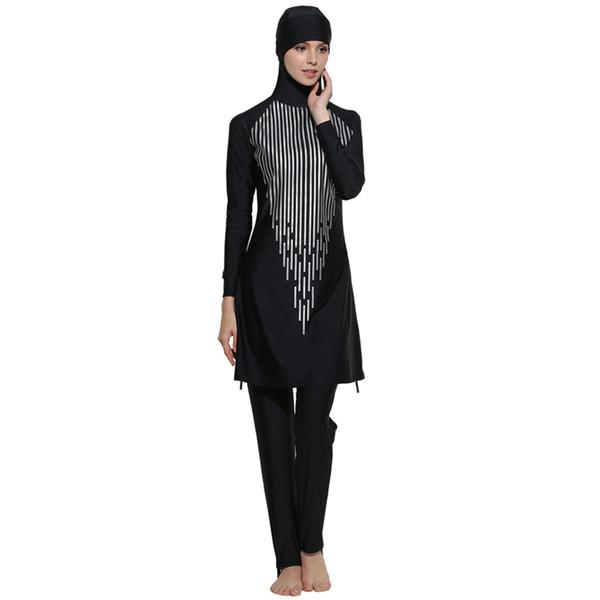 Make Difference Islamic Swimwear Women Modest Full Cover Muslim Islamic Hijab Swimsuit Swimwear Burkinis for Muslim Girls Women