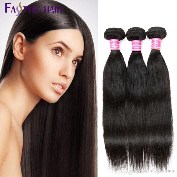Hot Cake! Fastyle Indian Straight Hair Weave Extension Unprocessed Brazilian Peruvian Malaysian Mink Virgin Human Hair Bundles Super Quality