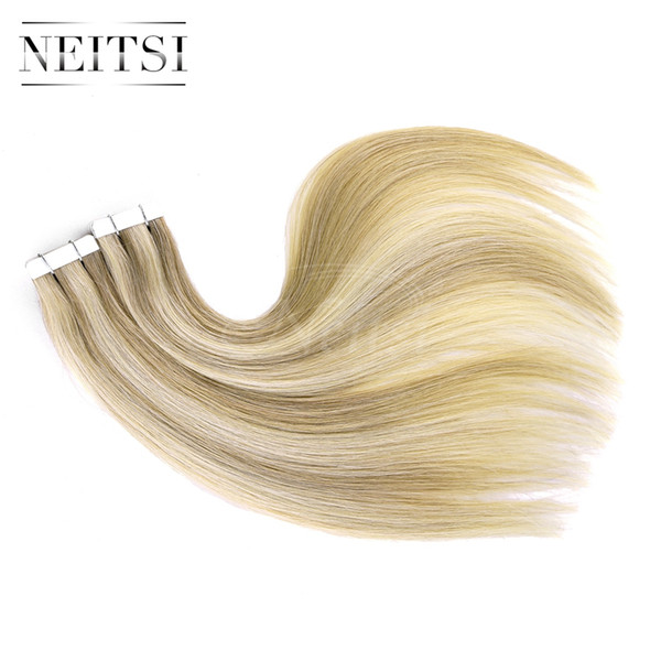 Neitsi 20 Tape In Hair Extensions Glue Skin Weft Staight Tape In