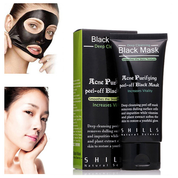 best selling SHILLS Purifying Peel-off Mask Deep Cleansing Black Shills Mask Pore Cleaner 50ml Blackhead Facial Mask