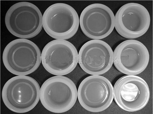 Kitchen Tool 3ml Transparent Antihaft-Silikonglas abgedeckt Bustomized Bho Ölbehälter Klar Mini Antihaft-Wachs Silikon-Box für Wachs