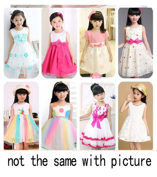 SUMMER Korean Girls' dresses princess dress baby tutu kid clothing MORE THAN 3-10STYLE MIXED STYLE SUIT FOR 3-7T free shipping