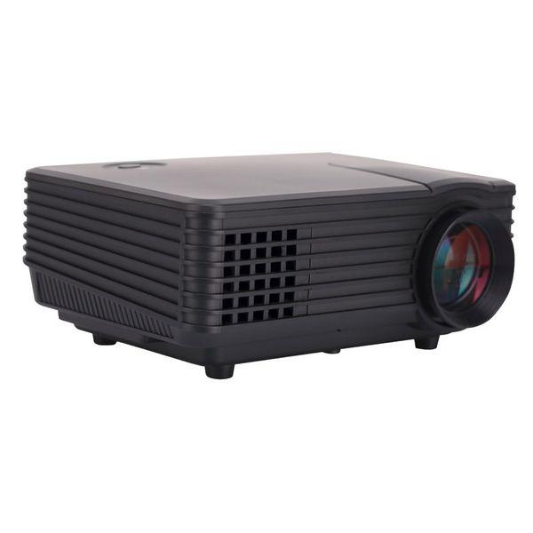 All'ingrosso-3D proiettore LED Mini proiettore supporto rosso / blu formato 3D Moive Home Theater 800 * 480 con vetro 3D U-disk regalo gratuito