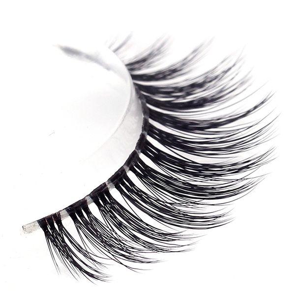 Wholesale- Natural Handmade 3d False Eyelash 3 Pairs /Lot Faux Mink Fake Eyelash ,Thick Eyelash Extension with Free Shipping